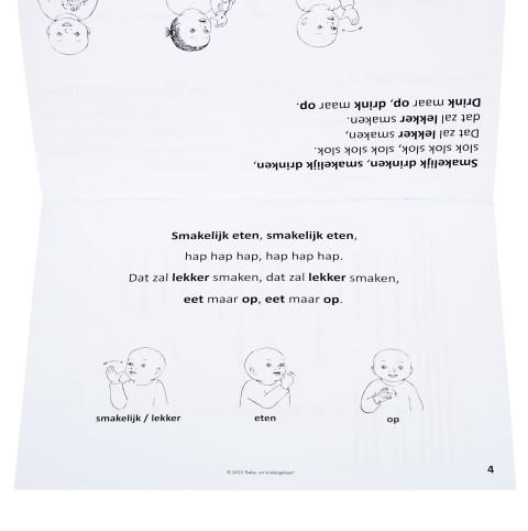Gebarenliedjesboek - binnenkant