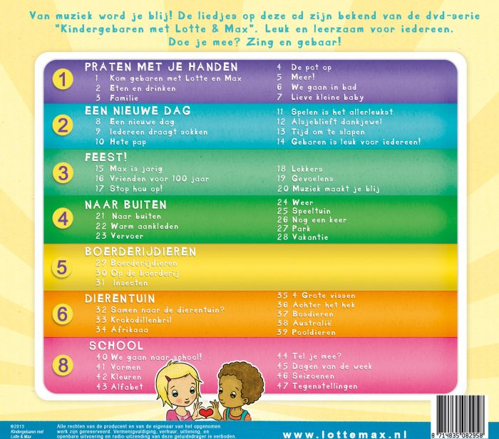 Lotte en Max liedjes cd