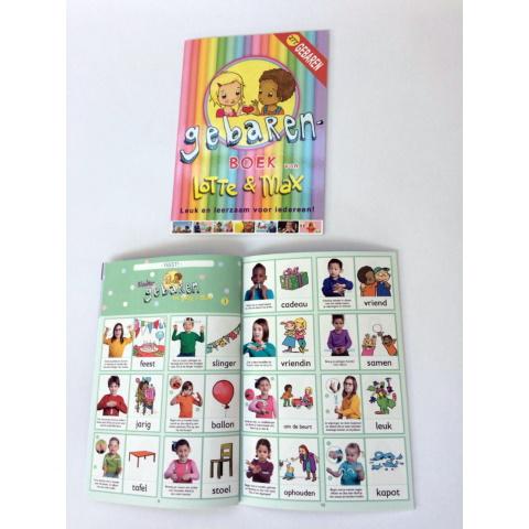 Lotte en Max gebarenboek + gratis bewaarbox