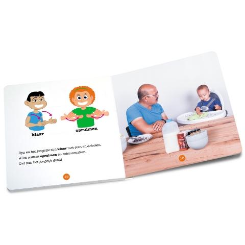 Gebarenboekje 'eten met opa'